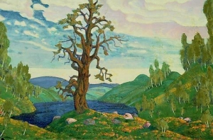 """NikolaiRoerichRite1"" by Nicholas Roerich 1874-1947 - Nicholas Roerich Museum, New York. Licensed under Fair use of copyrighted material in the context of The Rite of Spring via Wikipedia - http://en.wikipedia.org/wiki/File:NikolaiRoerichRite1.jpg#mediaviewer/File:NikolaiRoerichRite1.jpg"